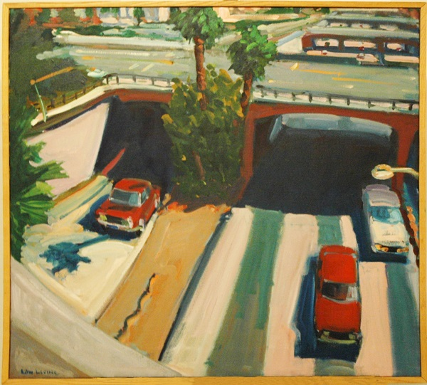 Edward Levine, Little Freeway. Acrylic on canvas.