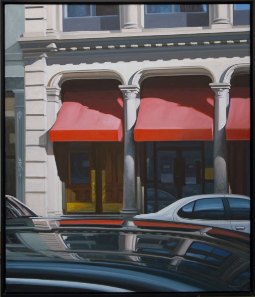 Stephen Magsig, Broadway Reflection. 2005. Oil on canvas.