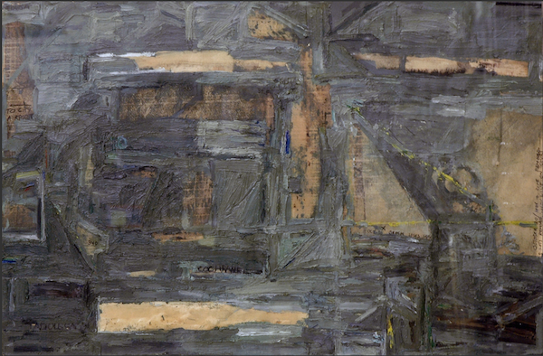 Cay Bahnmiller, Untitled #15, 1980. Oil on blueprint paper.