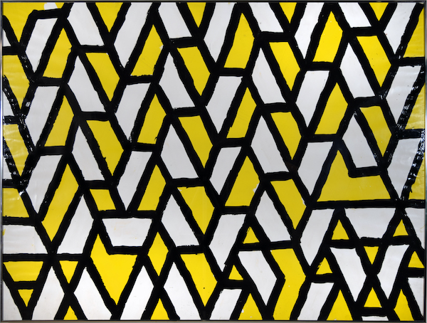 Robert Sestok, Black and Yellow Grid Drawing. 1972. Oil on paper.