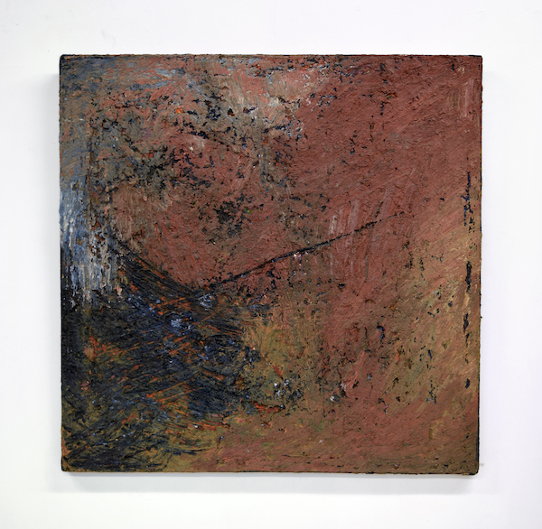 Gilda Snowden, Sage. 1979. Encaustic, pigment on canvas.
