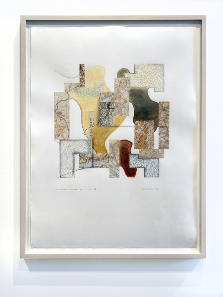Lynne Avadenka, The Distance Between Monuments IV. 2006. Pencil, graphite, gouache, collage on paper.
